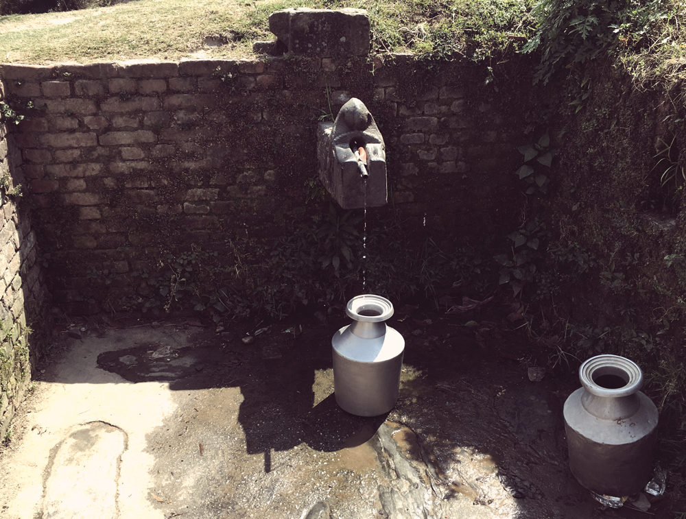 One of many trickle wells in the area.