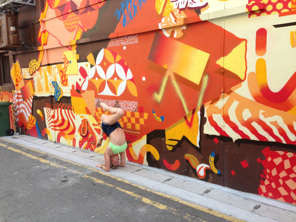 Street Art + Yoga in Singapore