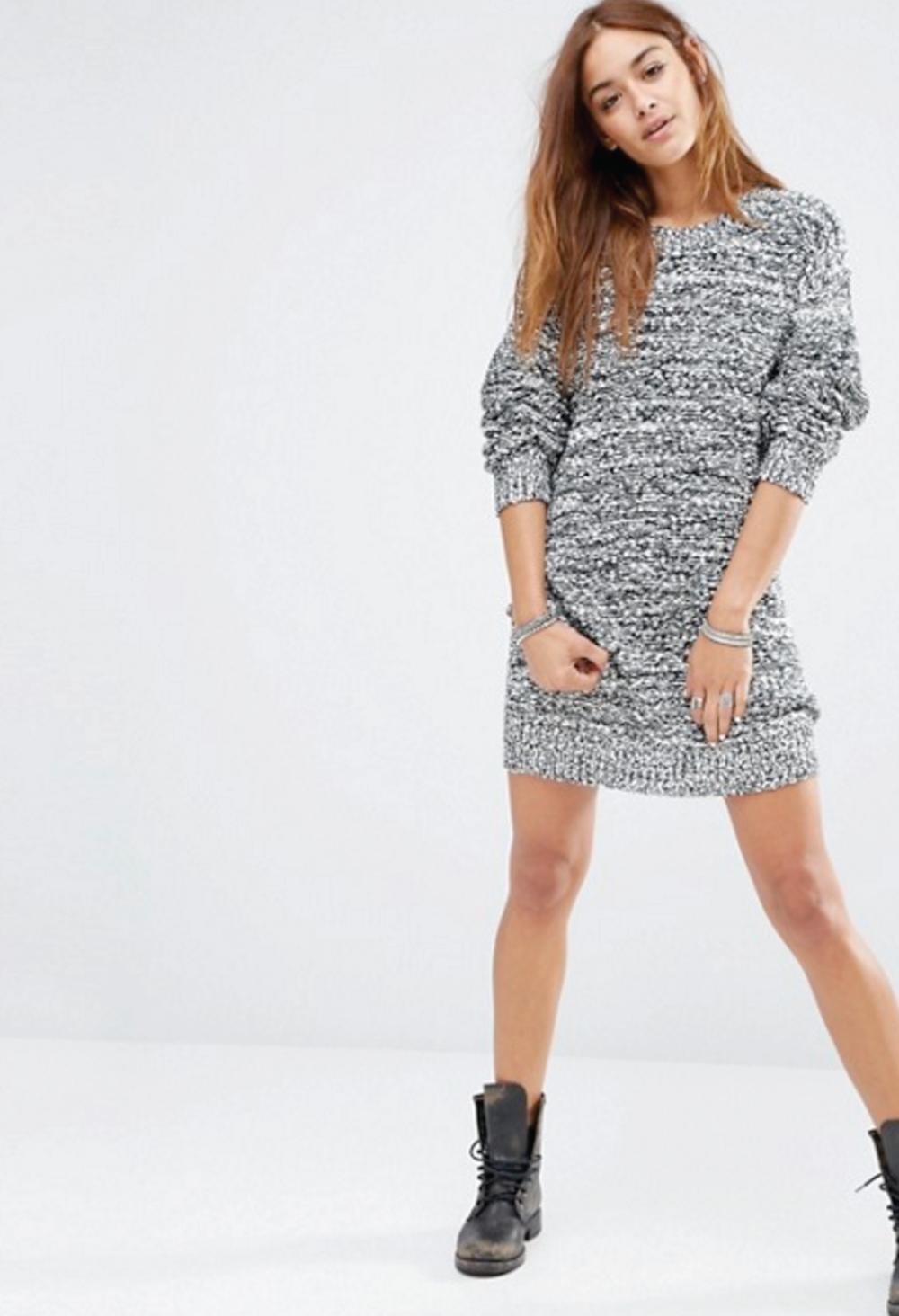 honestly, though grey oversized sweater