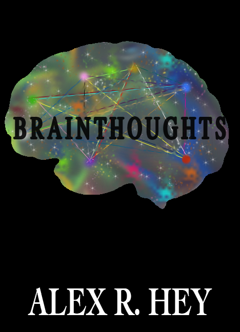 """Brainthoughts"" is a term Alex R. Hey invented to describe the sort of thoughts only his weird brain can have. The poems in Hey's second poetry book represent just some of the brainthoughts he has had over the years (some are too weird or too personal for publication).   Release Date:  December 30, 2017   Buy It:   Amazon ;  Barnes & Noble"