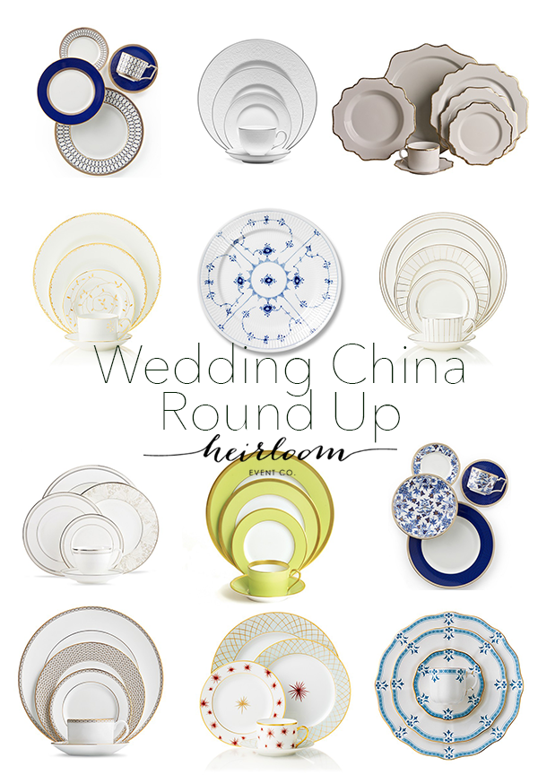 Heirloom Event Co. // Wedding China Round Up