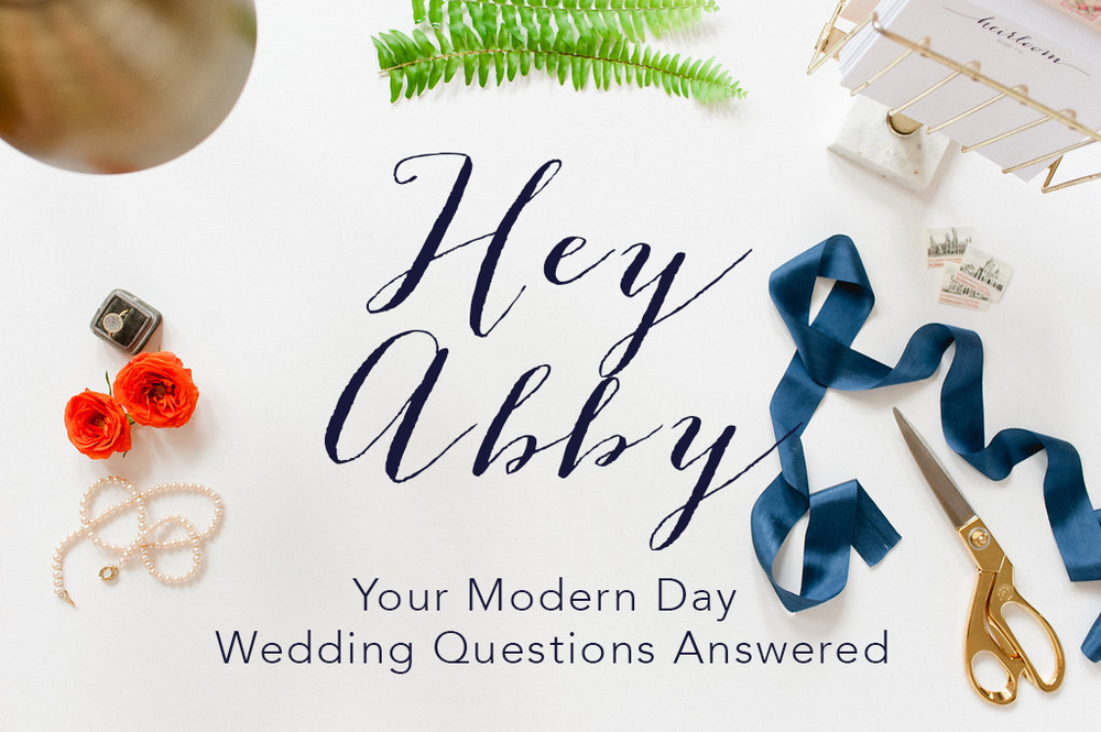 Hey Abby // How to Plan Your Wedding When There are Bigger Things Happening in the World