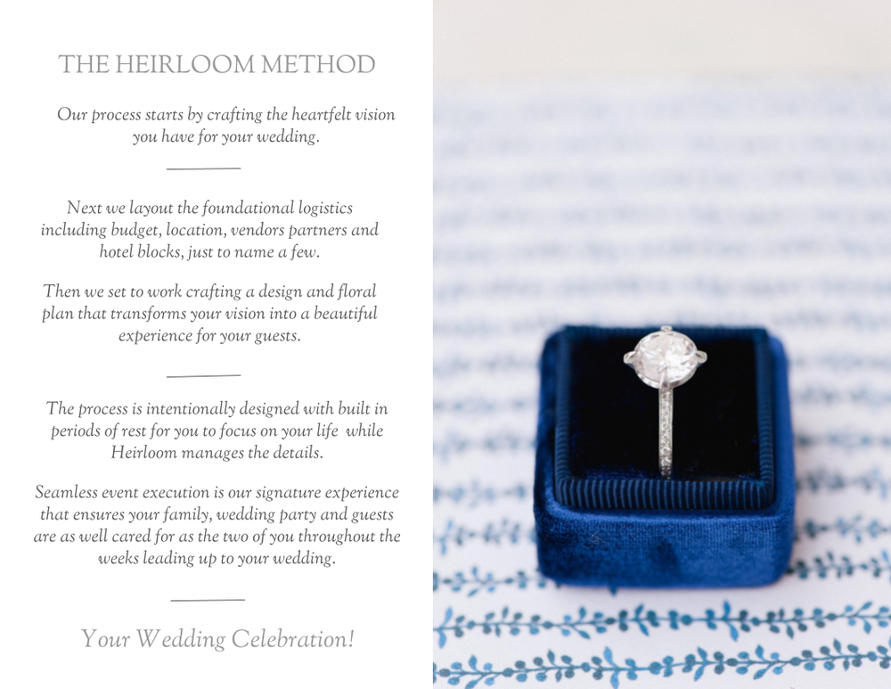 The Heirloom Method | Heirloom Event Co.
