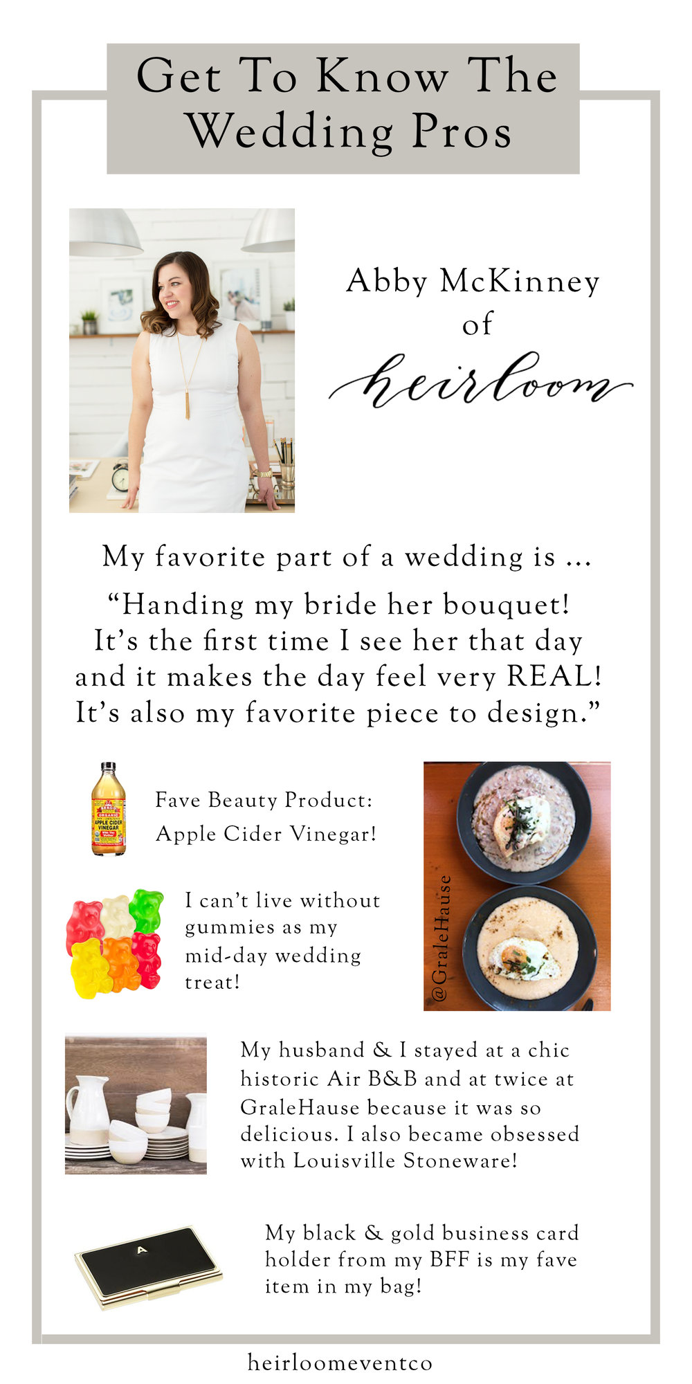 Heirloom Event Co. | Get To Know The Wedding Pros