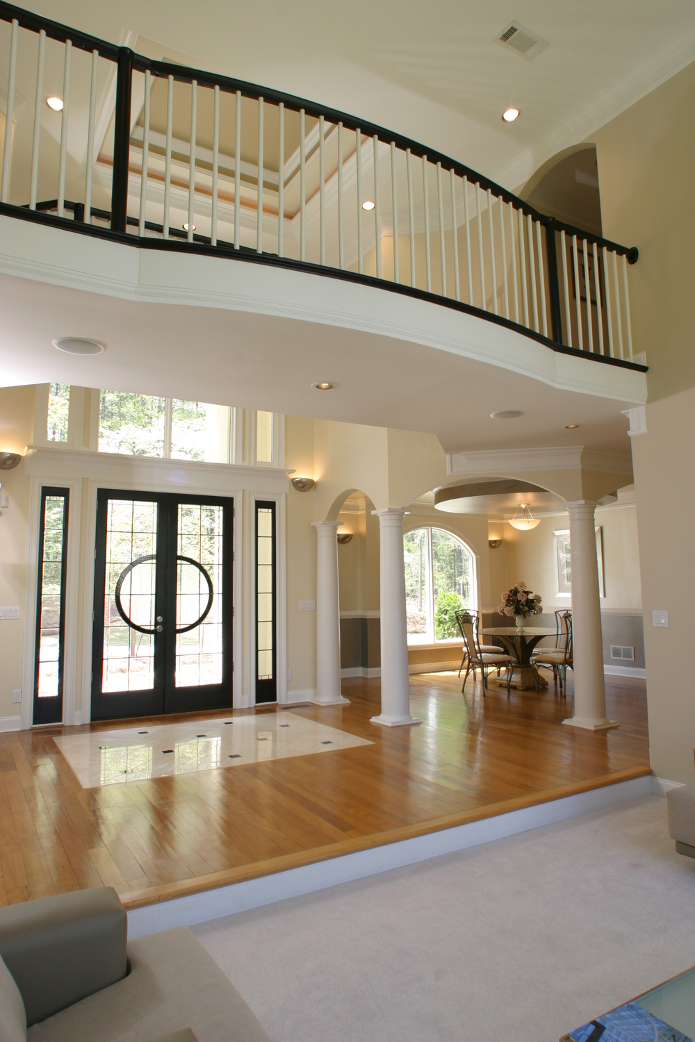 Entrance Foyer Circulation And Balcony In A House : Luxury mansion designs — boyehomeplans