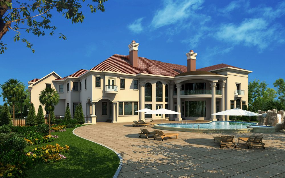 Luxury mansion designs for Georgia house plans