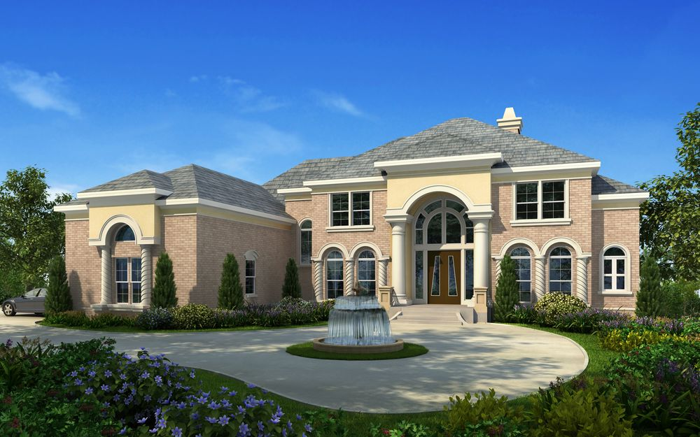 Custom bespoke home designs Luxury estate house plans
