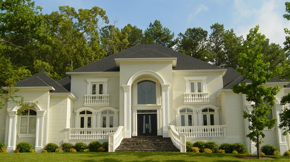 Exterior Photos of Homes: 4000 sf-15,000sf — www.boyehomeplans.com