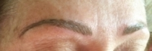 Immediately after Hairstroke Eyebrows.  Pigment will soften and fade in about 4-5 days.