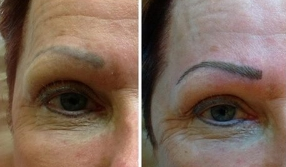 Correction.....Immediately after hair stroke eyebrows.
