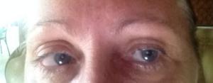 Before Hair stroke Eyebrows and Upper & Lower Eyeliner