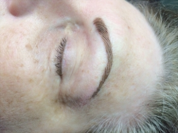 Immediately after Hairstroke Eyebrows, color will soften and fade in about 5 days.