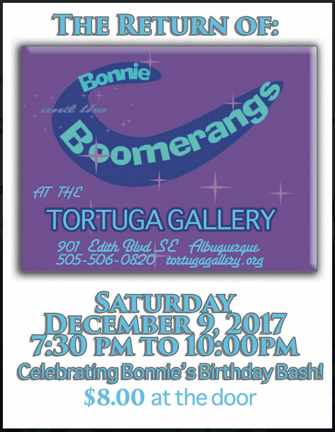 Bonnie & the Boomerangs - Saturday December 9 at 7:30pm $8.