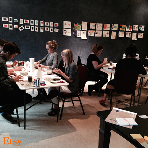 "ETSY   Using principles from the Creativity + Courage™ curriculum Breeze developed and facilitated custom workshops for Etsy's senior management teams. These experiential workshops aimed to help teams develop:  • Communication Skills • Team Building • Courage + Kindness • Innovative Solutions • Enlarged Perspectives   ""What's so incredible is that despite having experienced her workshops so many times, I'm still learning and finding value. I've witnessed remarkable results and breakthroughs in people who are going through Dawn's course together: deep connection with one another, a shift from overthinking to more intuitive decision making, an ability to think in deeply creative ways and see new solutions. I cannot overstate how valuable her work is, and how much Dawn has impacted the work that my team is doing at Etsy.""    —Heather Jassy, SVP Etsy"