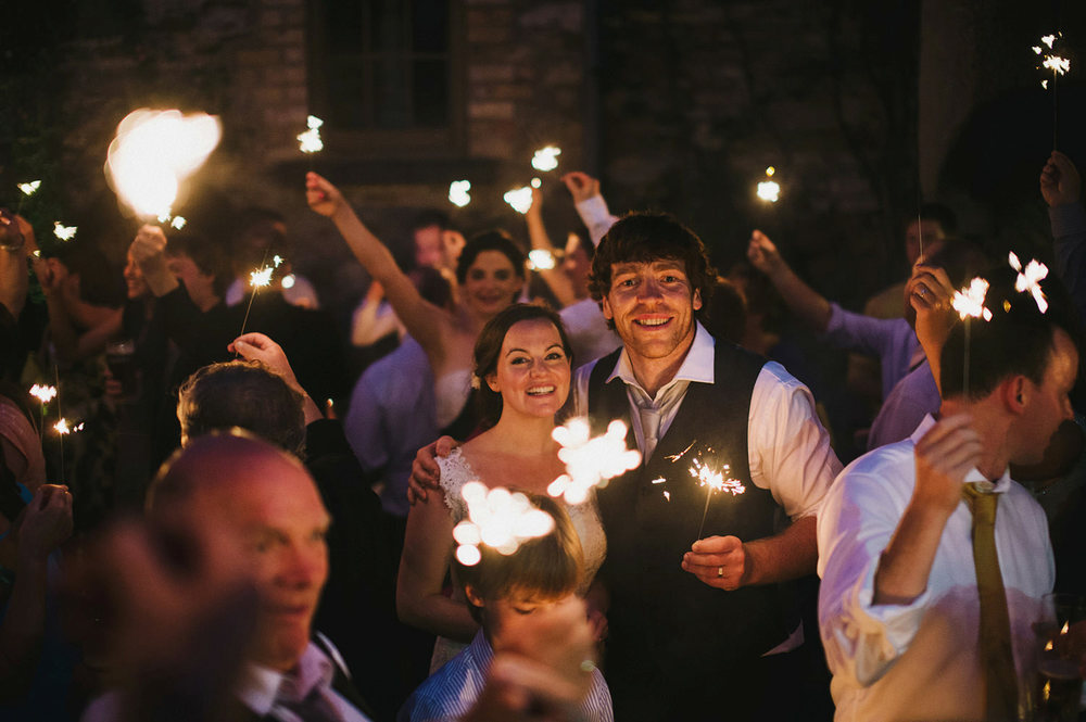 Wedding sparkler photographs in Ireland