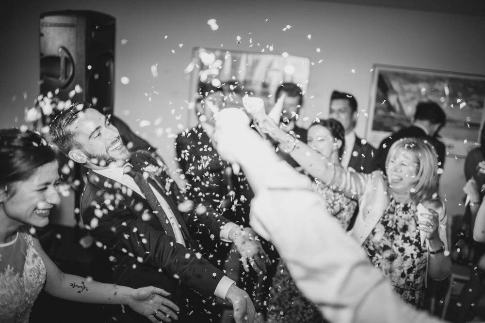 Wedding dancefloor confetti