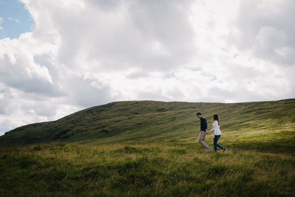 Wedding photography Northern Ireland Mourne Mountains Engagement shoot