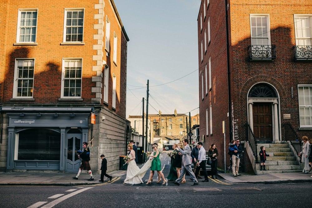 Bagpipes dublin wedding
