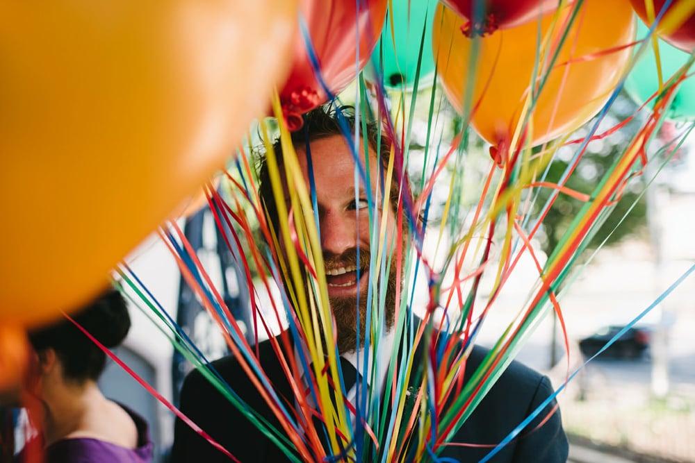 Wedding Balloon Release Photos
