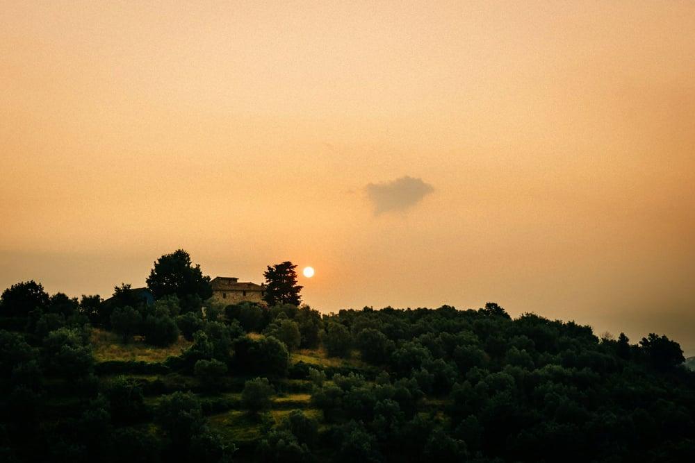 Tuscany Sunset Wedding Photos