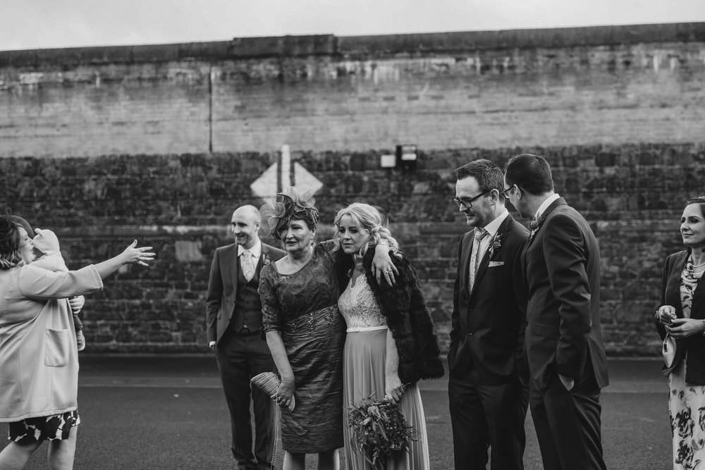 Crumlin Road Gaol Daft Punk Wedding Photos.  Best Wedding Photographers Northern Ireland.