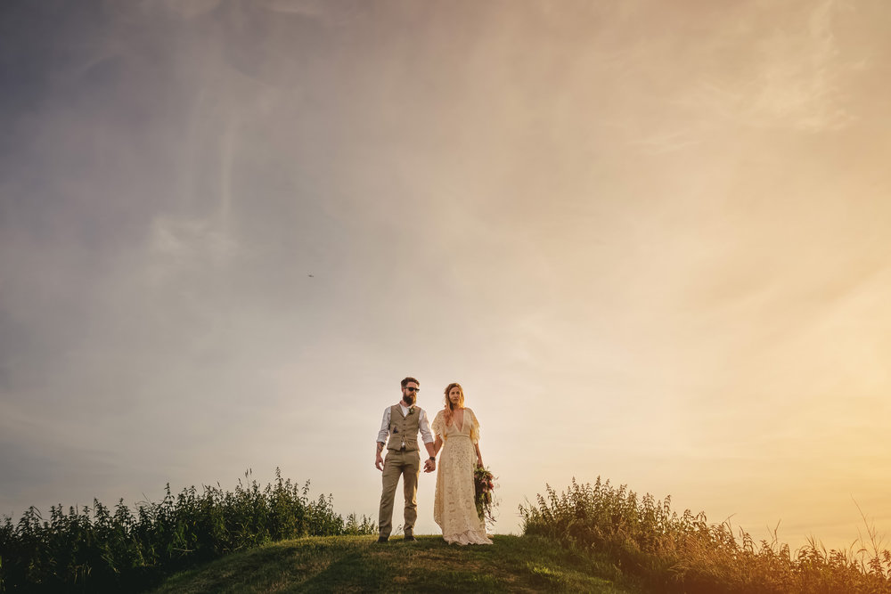 Field of Dreams Bangor Wedding Photos. Christin White and Gareth Martin. The Martins photography.