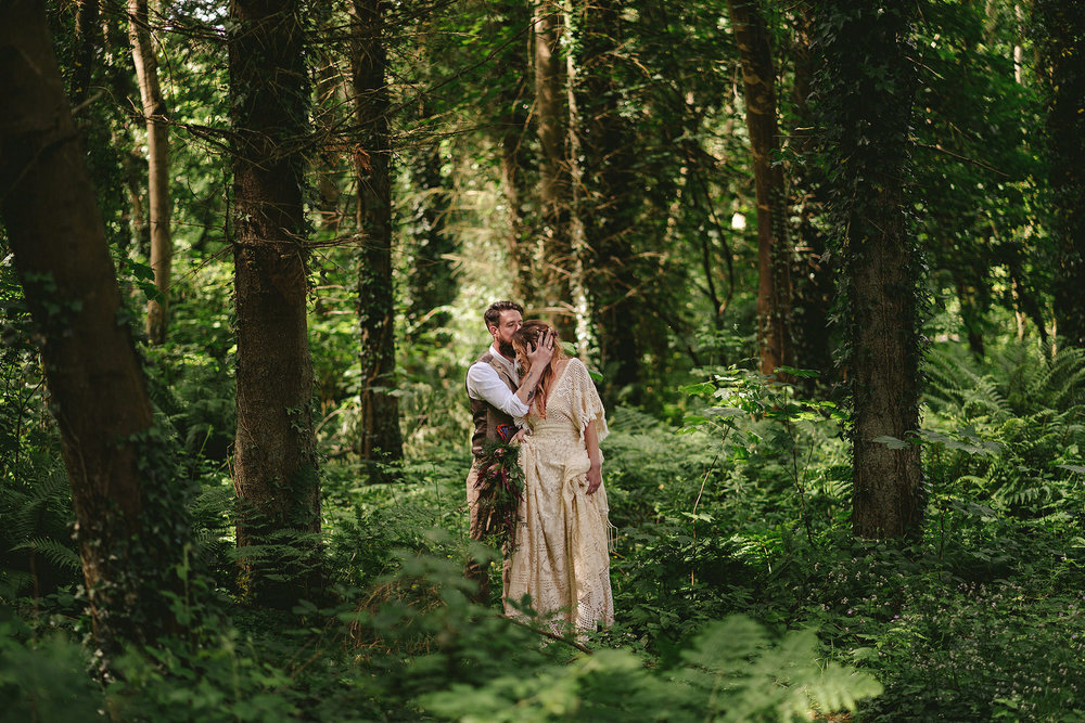 Reclamation dress, Wedding photography, Northern Ireland, Boho, Ireland, Alternative, Field of Dreams,