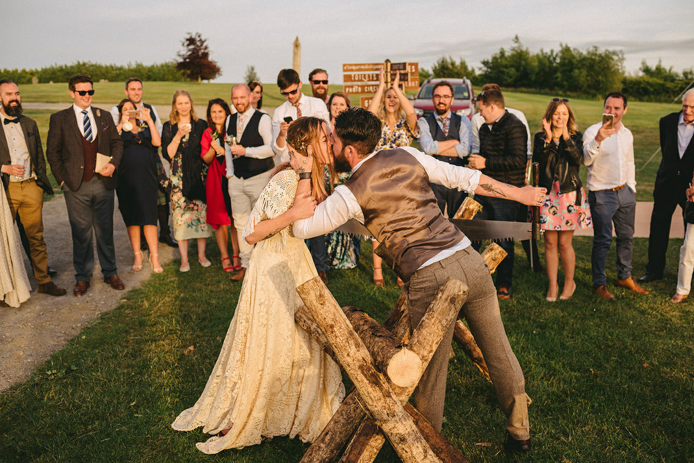 Traditional German Log Cutting Ceremony. Log Sawing wedding tradition Germany