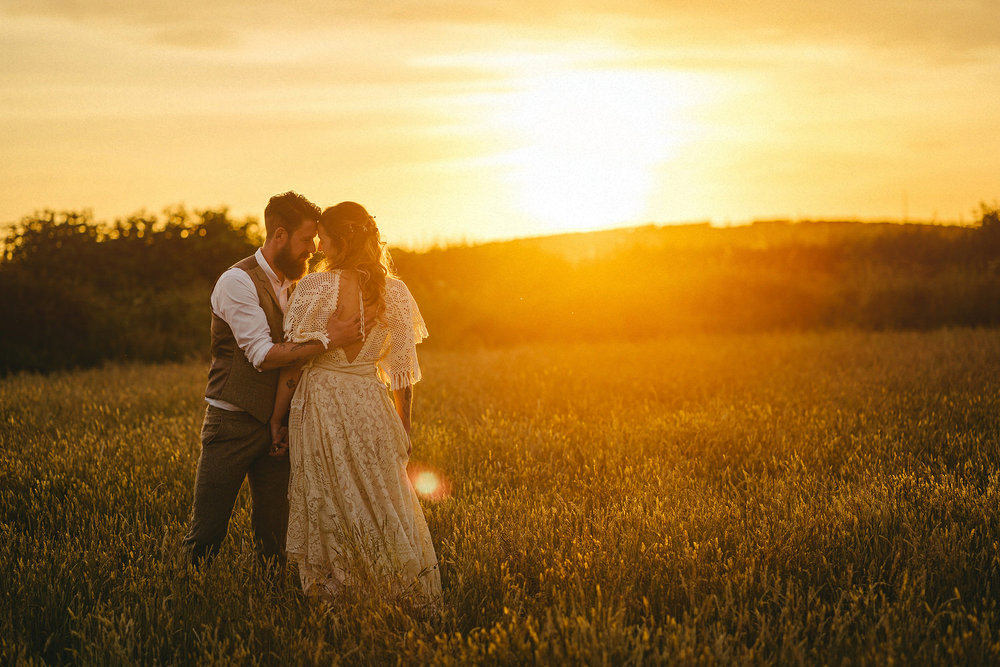 Field of Dreams Bangor Wedding Photos. Sunset wedding pictures.