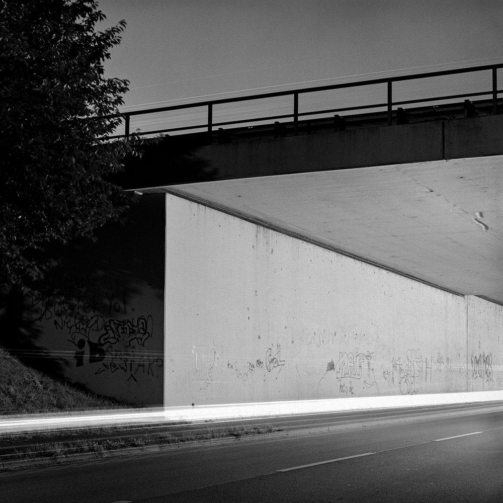 Autobahnbrücke A7. Moorburg