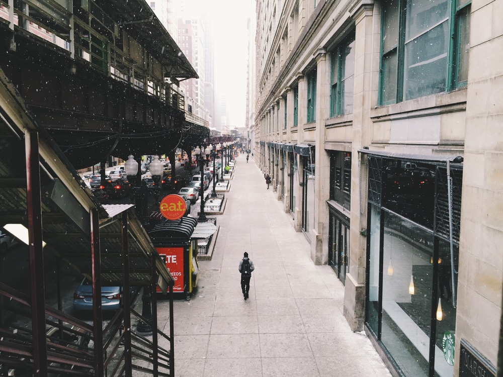Winter, Downtown Chicago, February 2015