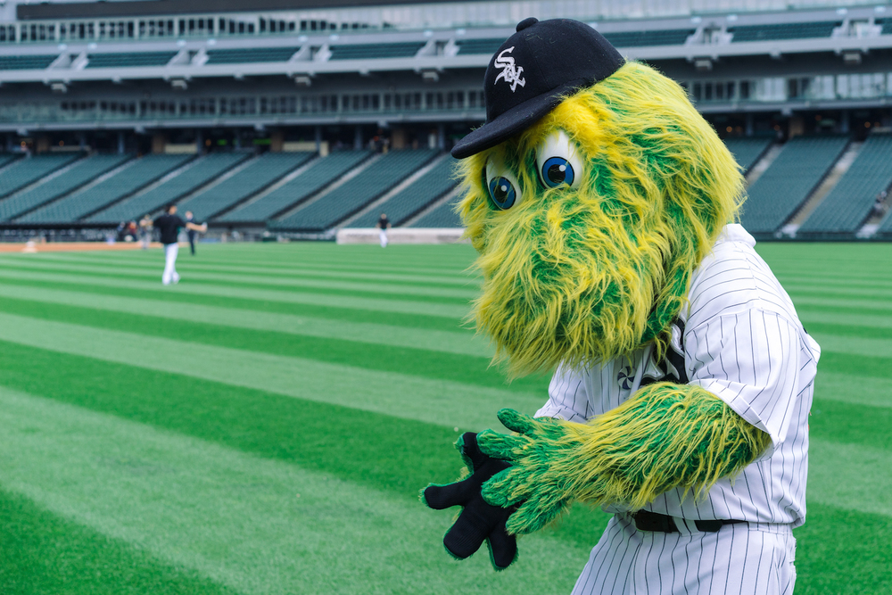Southpaw plays catch with an invisible ball.