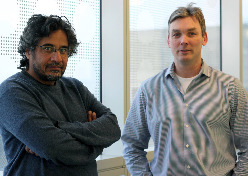 Antibody engineering technology developed by Donnelly Centre professors Sachdev sidhu (left) and Jason Moffat (right) is being used in myeloid tuning, a new form of immunotherapy that aims to enhance the body's ability to fight cancer.