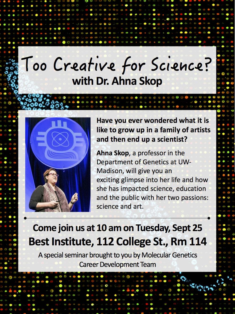 Too Creative for Science - Ahna Skop Workshop Poster.jpg
