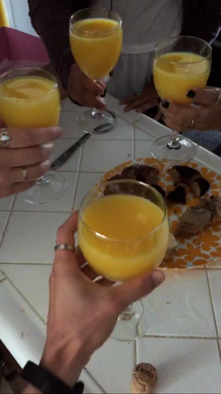 excuse the less-than-great quality - I may or may not have had to resort to screenshotting the boomerang I posted on my Instagram story because I may or may not have had one-too-many mimosas to remember to take an actual picture, ya know?