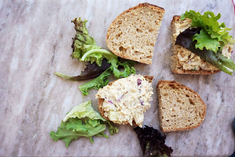 White Bean Salad Sandwich (Vegan)