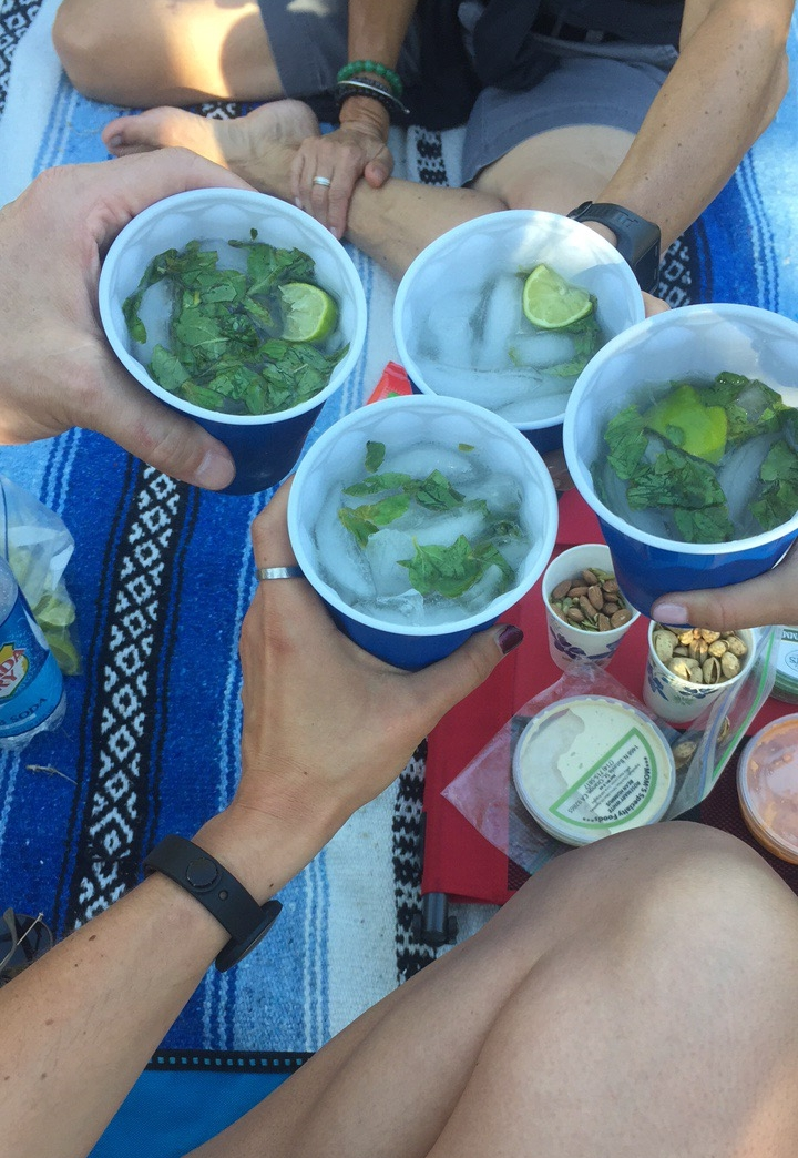 Dad's newly famous homemade mojitos