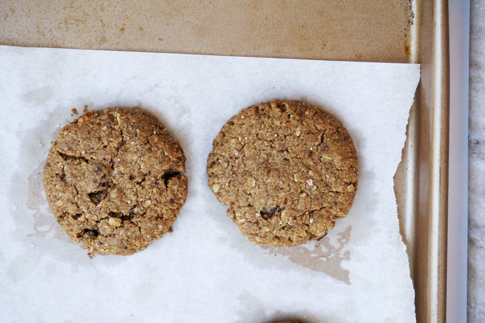 Almond Butter Oatmeal Raisin Cookie Ice Cream Sandwiches (Vegan, GF)
