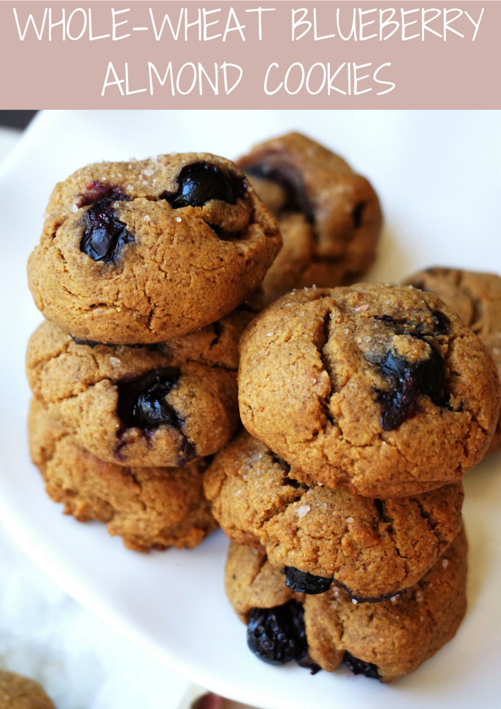 Whole-Wheat Blueberry Almond Cookies