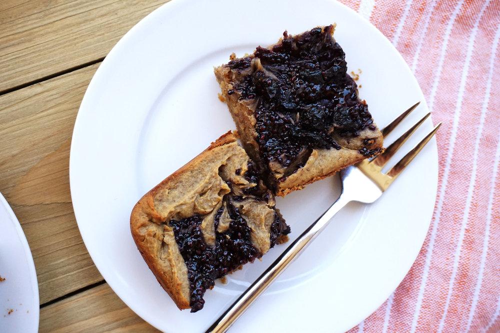 Blueberry Jam Breakfast Blondies (GF)