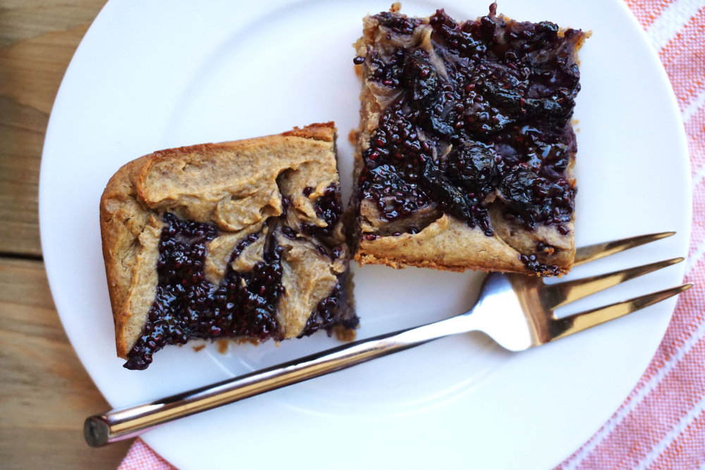 Blueberry Jam Breakfast Bars (Vegan, GF)