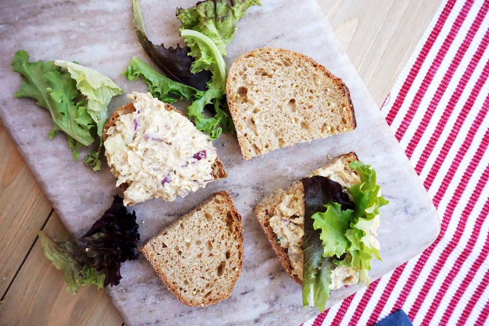White Bean Salad Sandwich (Vegan, GF option)