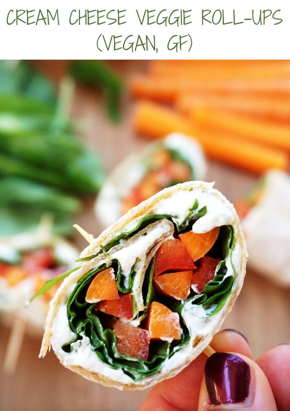 """Cream Cheese"" Veggie Roll-Ups (Vegan)"