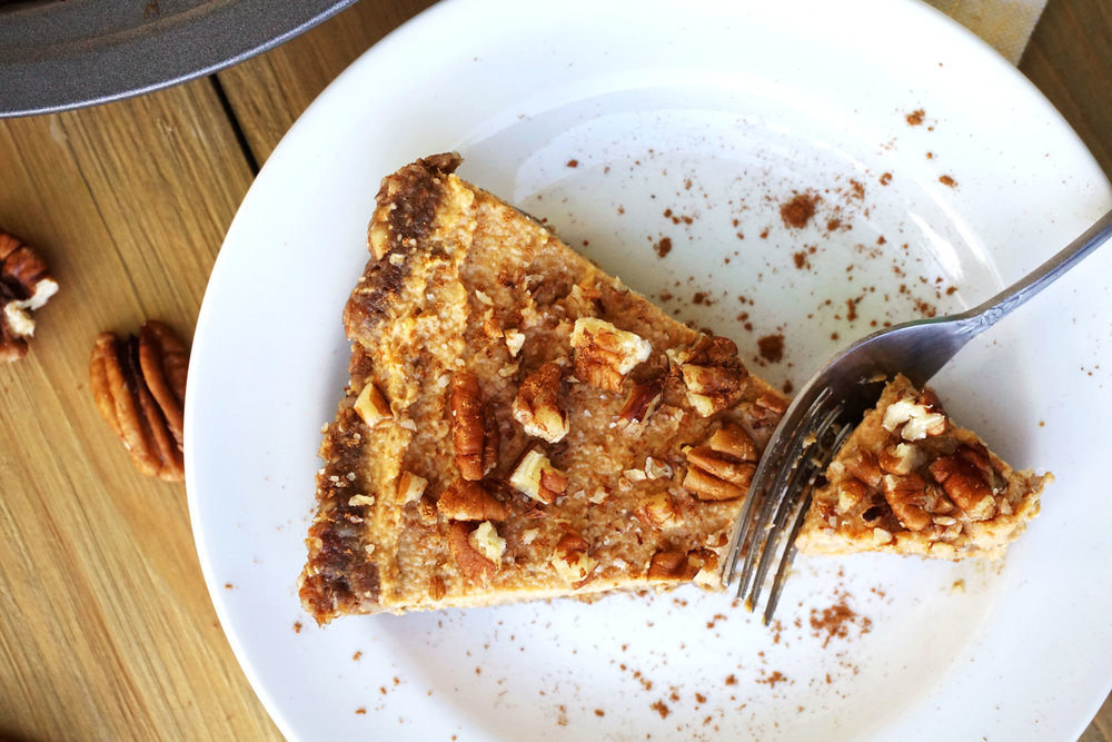 Sweet Potato Pecan Pie (Vegan, Paleo, No-Bake)