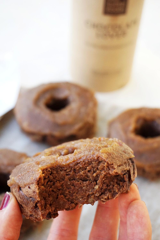 Salted Caramel Mocha Donuts (Vegan)