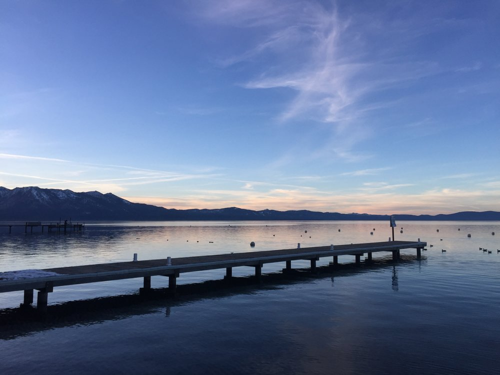 also, we should take into serious consideration the sunsets in Lake Tahoe. like come. on.