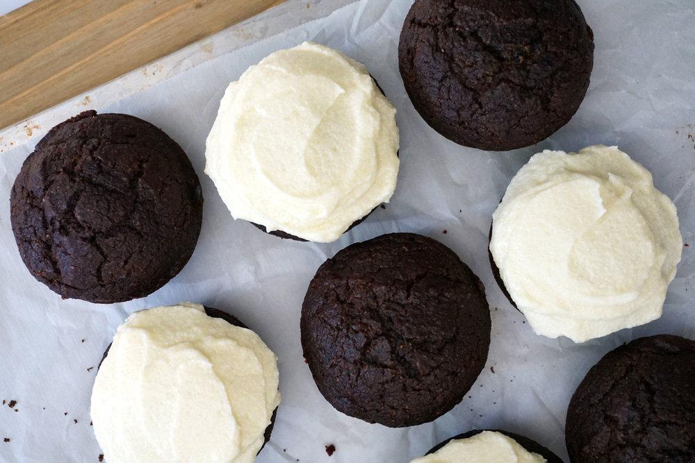 Dark Red Velvet Cupcakes with Cream Cheese Frosting (Secret Ingredient!)