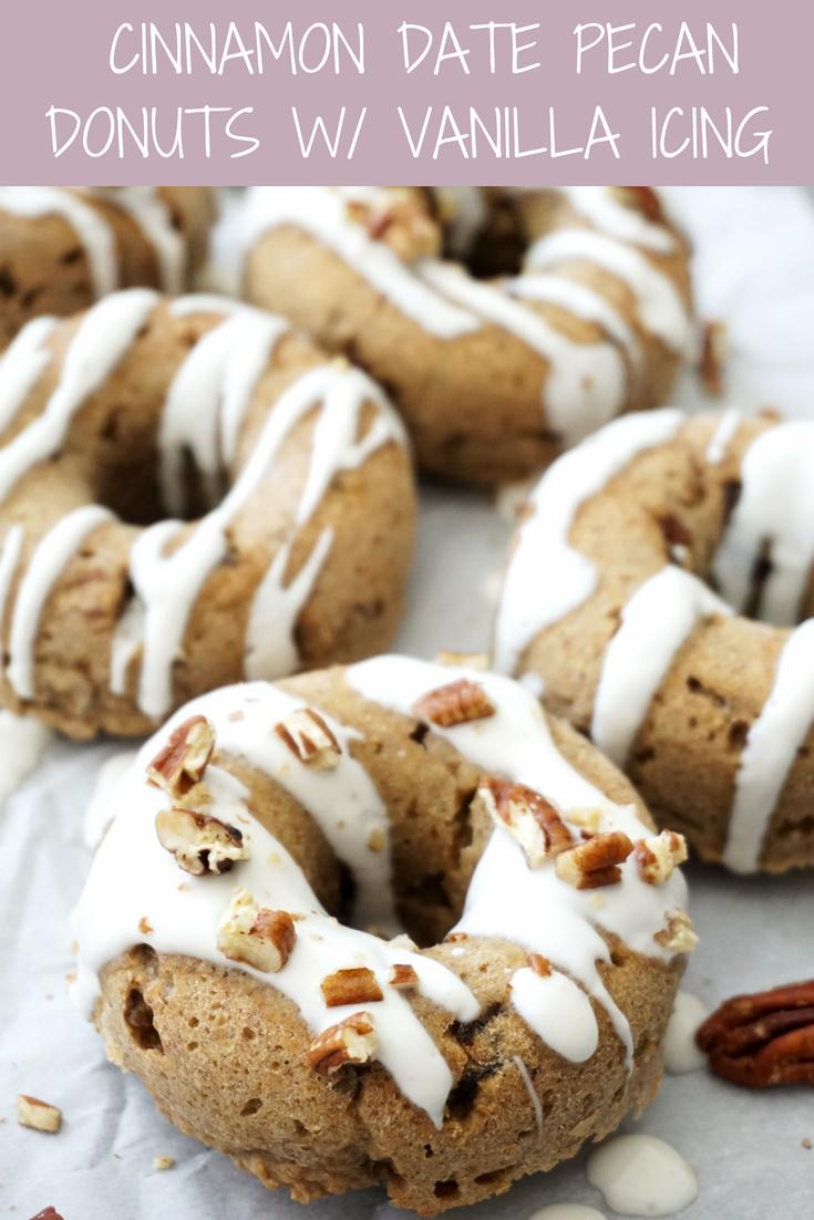 Cinnamon Date Pecan Donuts (GF)