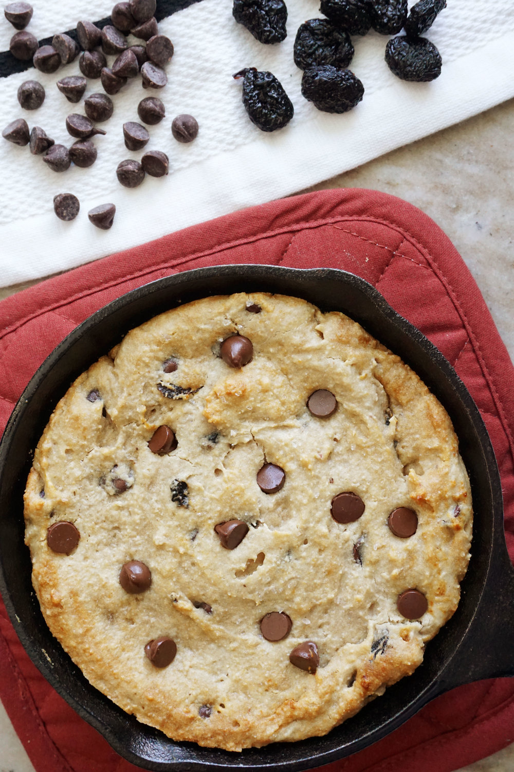 Cherry Garcia Cookie Skillet (Vegan, Grain-free)