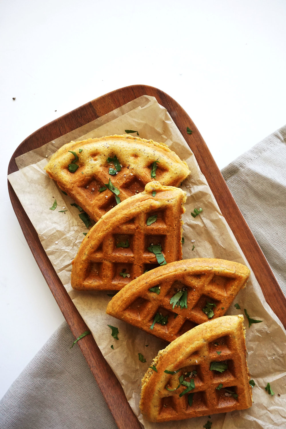 Savory Honey Cornbread Waffles (GF)